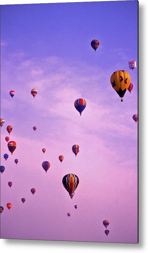 Hot Air Metal Print featuring the photograph Hot Air Balloon Race - 1 by Randy Muir
