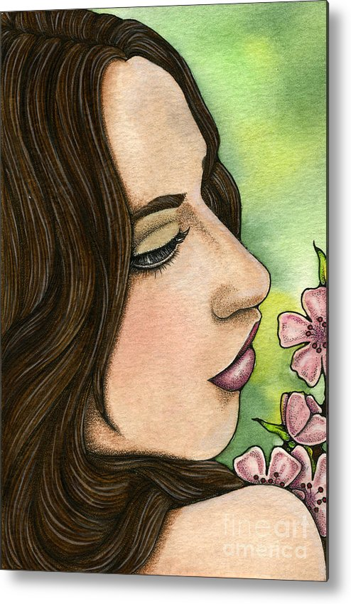I Metal Print featuring the painting I Remember by Nora Blansett
