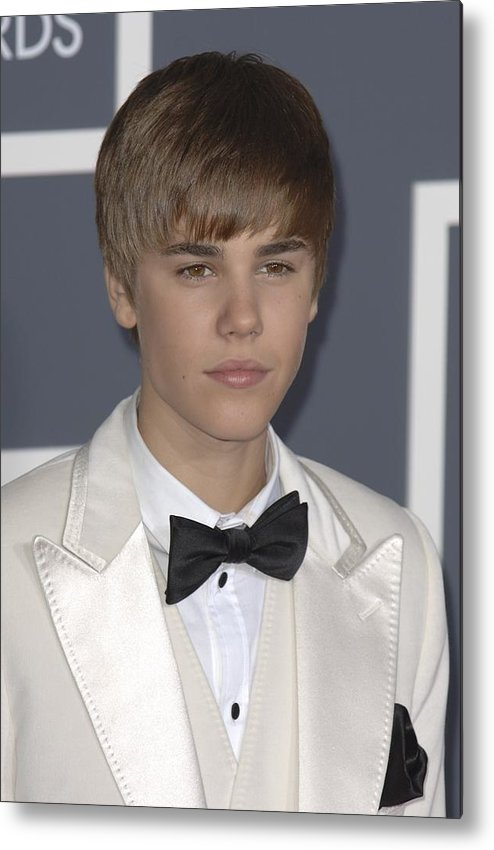 Justin Bieber Metal Print featuring the photograph Justin Bieber At Arrivals For The 53rd by Everett