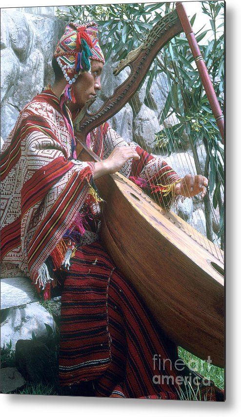 Lute Player Metal Print featuring the photograph Lute Player by Photo Researchers, Inc.