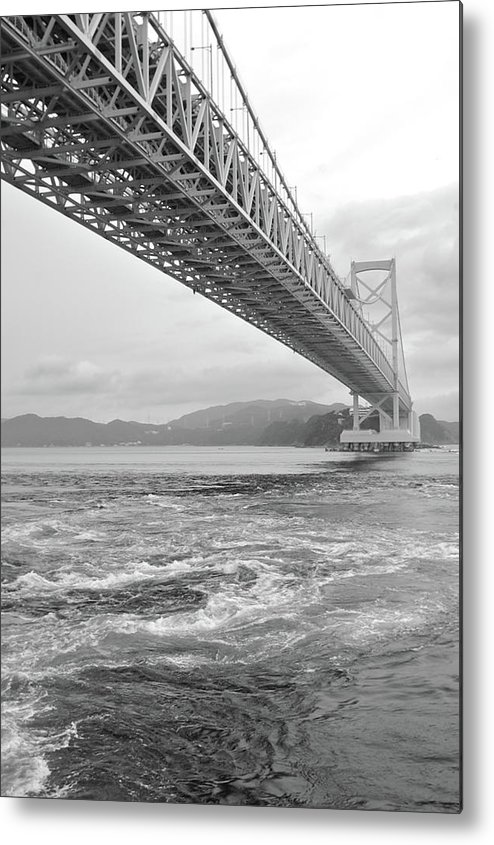 Vertical Metal Print featuring the photograph Onaruto Bridge by Miguel Castaneda