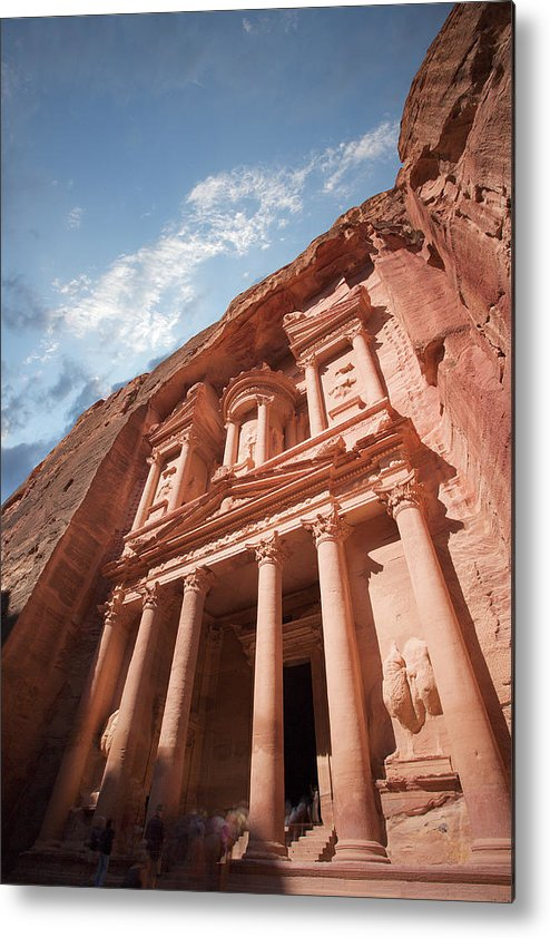 Vertical Metal Print featuring the photograph Petra, Jordan by Michael Holst Images