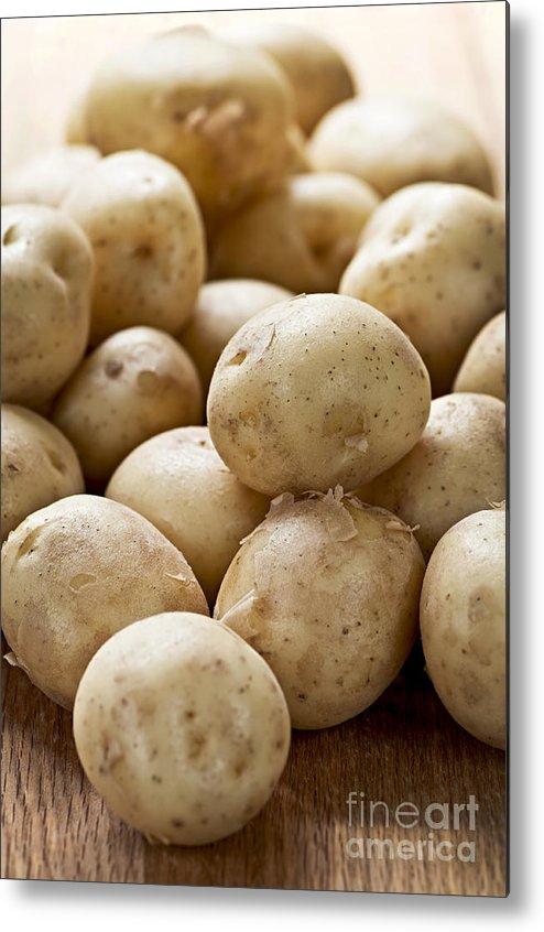 Potatoes Metal Print featuring the photograph Potatoes by Elena Elisseeva