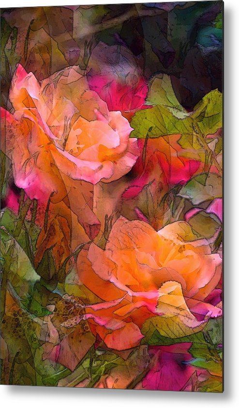 Floral Metal Print featuring the photograph Rose 146 by Pamela Cooper