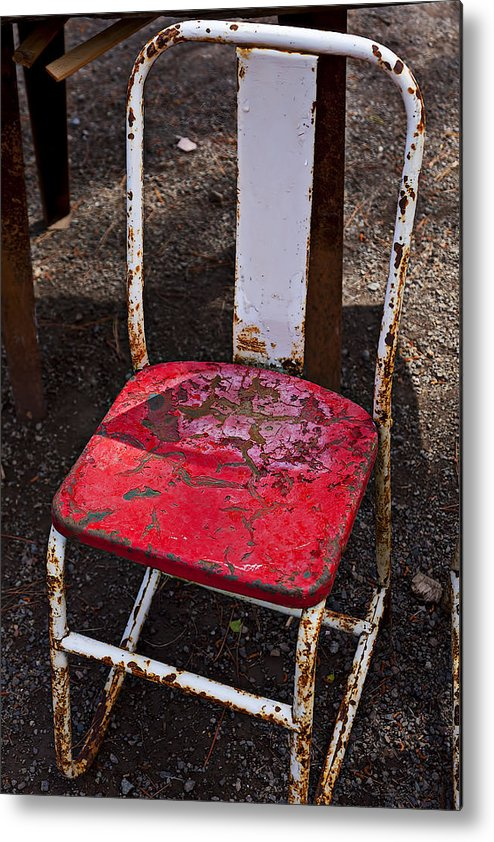 Chair Metal Print featuring the photograph Rusty Metal Chair by Garry Gay