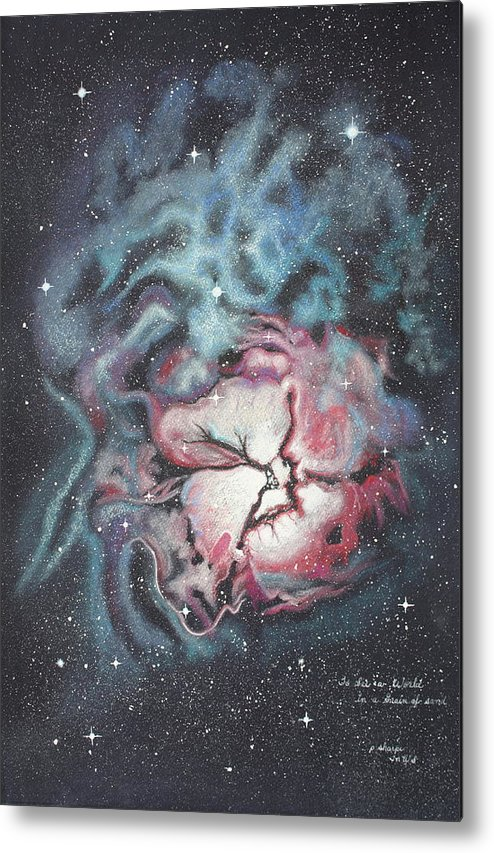 Outer Space Metal Print featuring the painting The Trifid Nebula by Patsy Sharpe