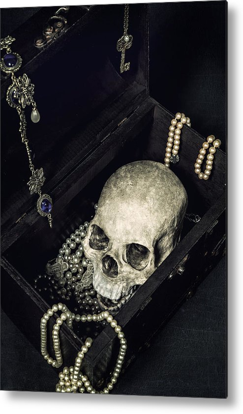 Skull Metal Print featuring the photograph Treasure Chest by Joana Kruse