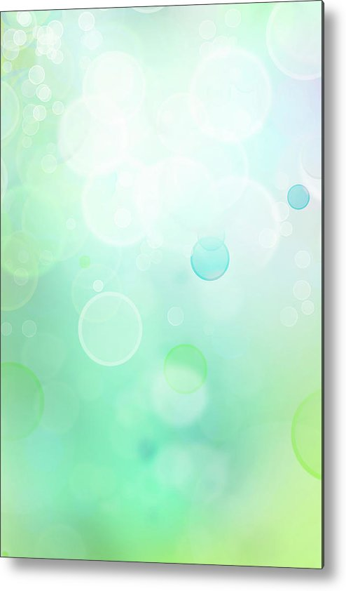 Green Metal Print featuring the digital art Abstract Background by Les Cunliffe