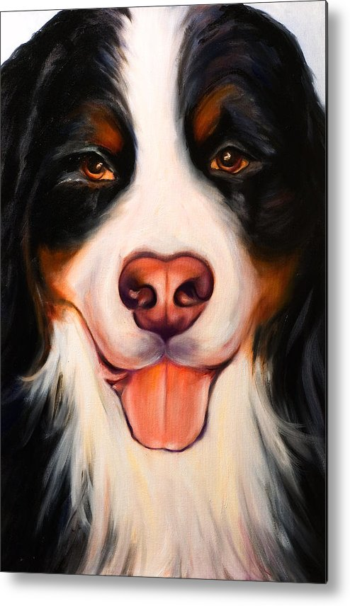 Dog Metal Print featuring the painting Big Willie by Shannon Grissom