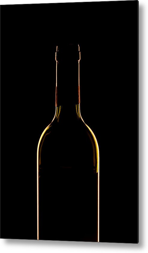 Wine Metal Print featuring the photograph Bottle Of Wine by Andrew Soundarajan