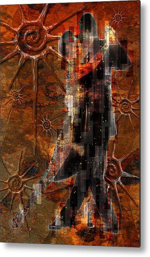 Dancers Metal Print featuring the digital art Destiny Tangos Con Chance En El Salon De Eternidad by Kenneth Armand Johnson