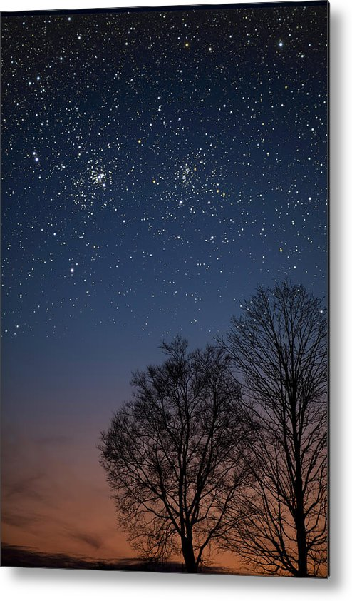 Stars Metal Print featuring the photograph Double Cluster Sunset by Charles Warren