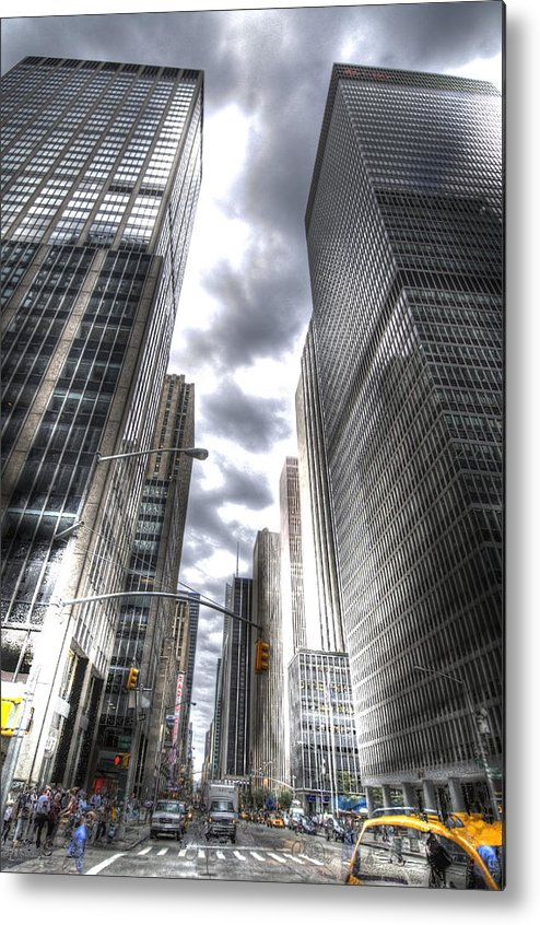 City Metal Print featuring the photograph Downtown Hdr by Robert Ponzoni