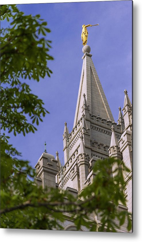 Mormon Metal Print featuring the photograph Holy Temple by Chad Dutson