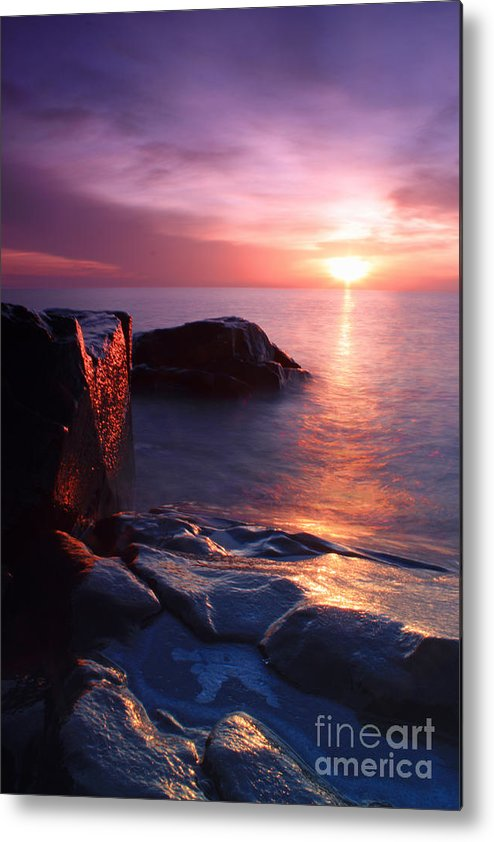 Sunrise Metal Print featuring the photograph Just Another Superior Sunrise. by Jamie Rabold