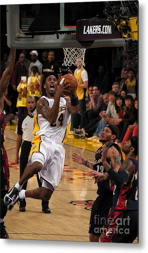 Lakers Metal Print featuring the photograph Kobe by Marc Bittan