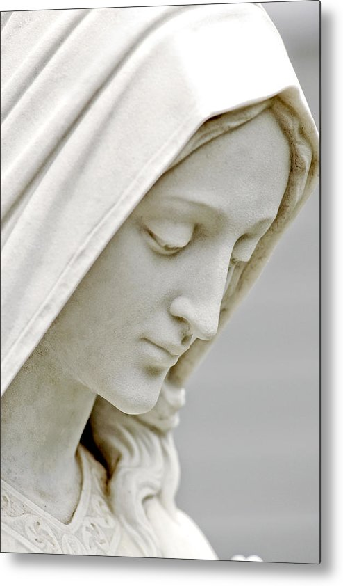 Statue Metal Print featuring the photograph Mother Mary Comes To Me... by Greg Fortier