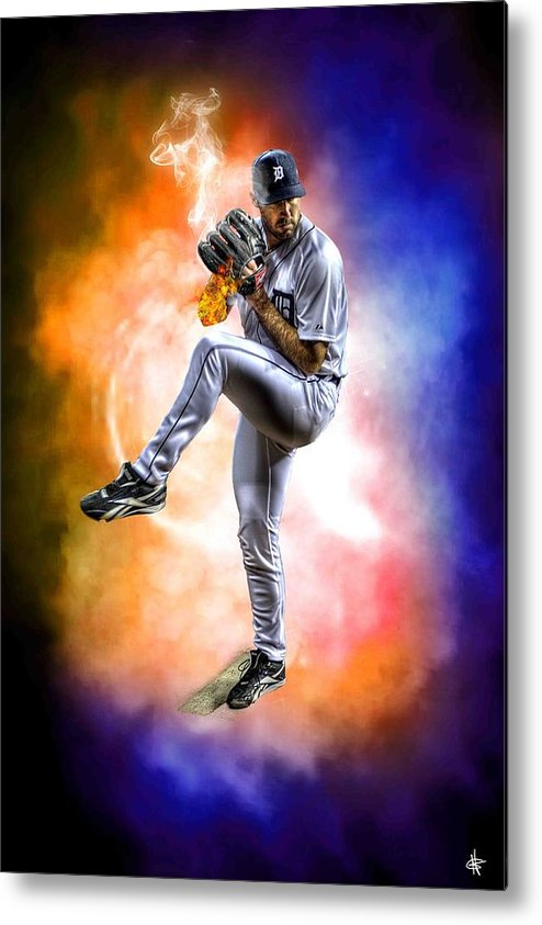 Cy Young Metal Print featuring the photograph Mr. Justin Verlander by Nicholas Grunas