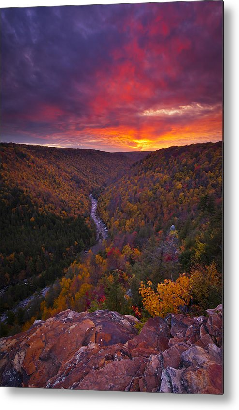 West Virginia Metal Print featuring the photograph Neverending Autumn by Joseph Rossbach
