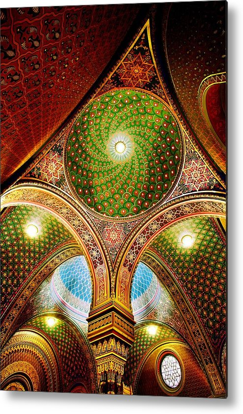 Spanish Synagogue Metal Print featuring the photograph Spanish Synagogue by John Galbo