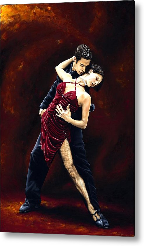 Tango Metal Print featuring the painting The Passion Of Tango by Richard Young