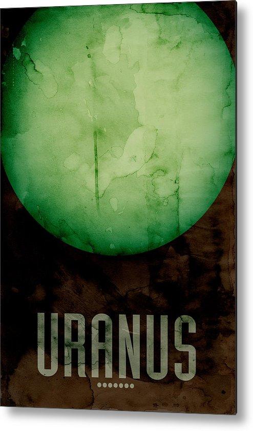 Uranus Metal Print featuring the digital art The Planet Uranus by Michael Tompsett
