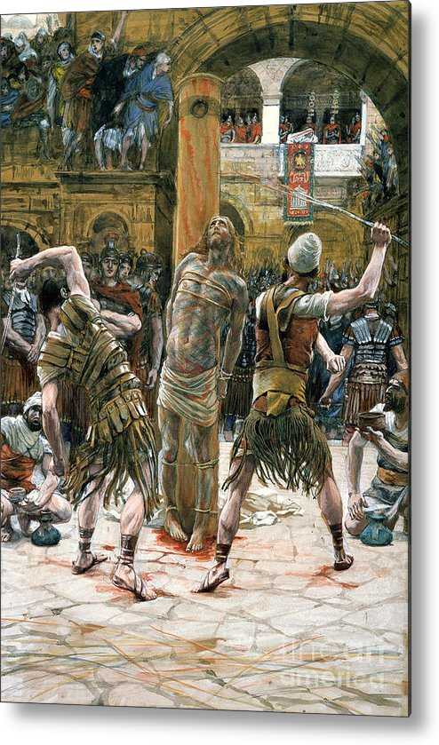 Whips Metal Print featuring the painting The Scourging by Tissot
