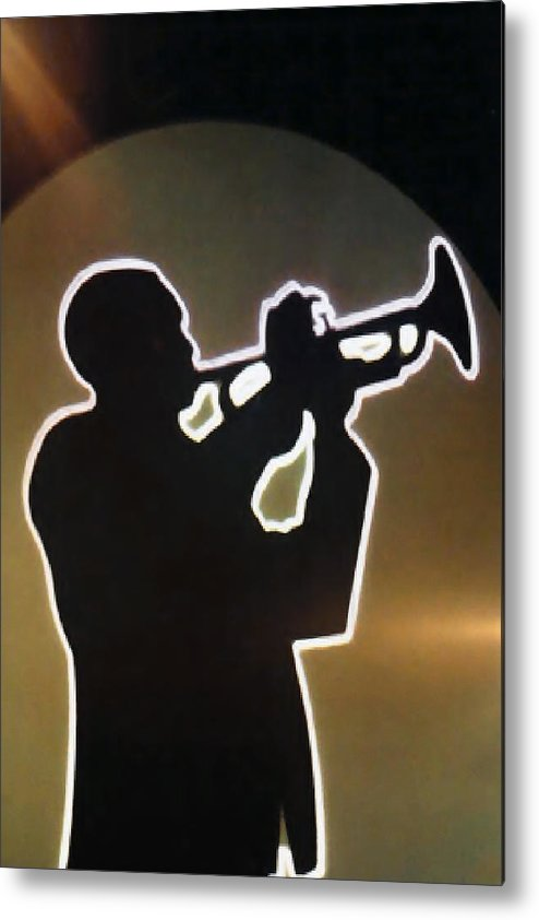 Classic Metal Print featuring the photograph Trumpet - Classic Jazz Music All Night Long by Christine Till