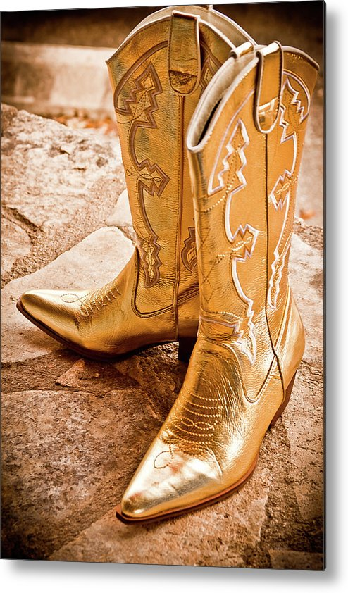 Boots Metal Print featuring the photograph Western Wear by Jill Smith