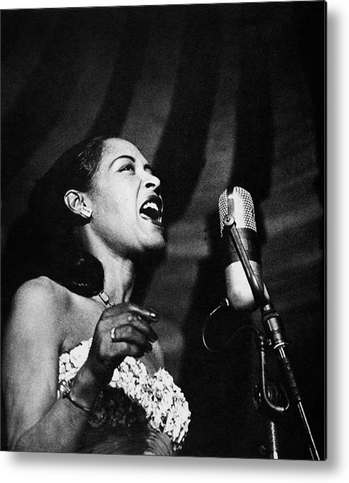 20th Century Metal Print featuring the photograph Billie Holiday (1915-1959) by Granger
