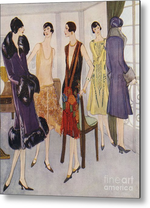 1920�s Metal Print featuring the drawing 1920s Fashion 1925 1920s Uk Womens by The Advertising Archives