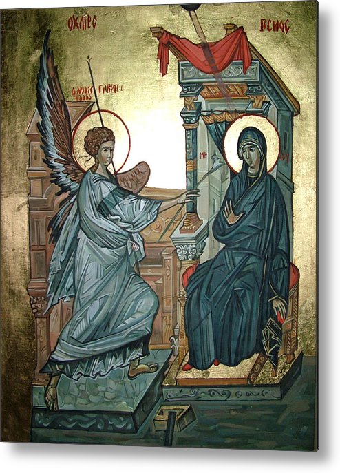 Icons Metal Print featuring the painting Annunciation by Filip Mihail