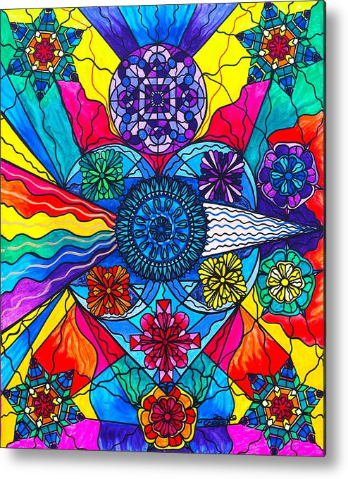 Vibration Metal Print featuring the painting Speak From The Heart by Teal Eye Print Store