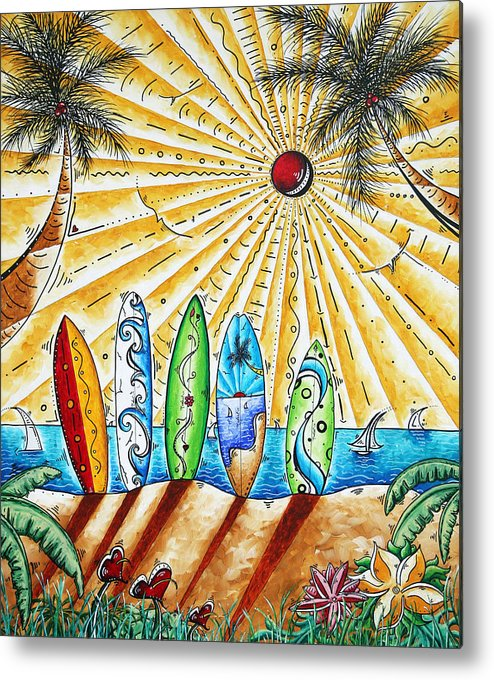 Tropical Metal Print featuring the painting Summer Break By Madart by Megan Duncanson