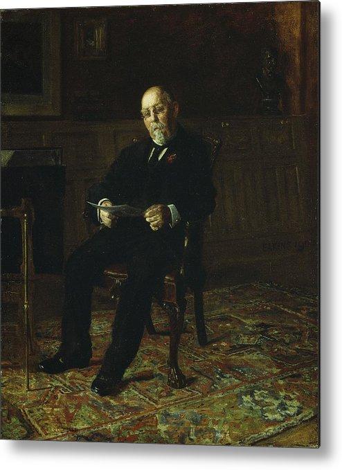 Robert Metal Print featuring the painting Robert M. Lindsay by Thomas Cowperthwait Eakins