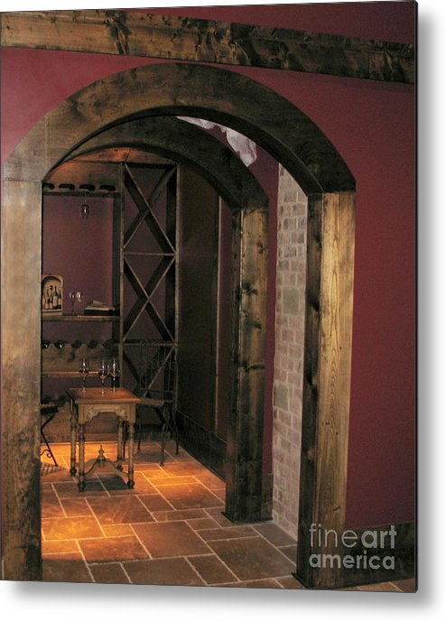 Wine Metal Print featuring the photograph To The Wine Cellar by Renee Trenholm
