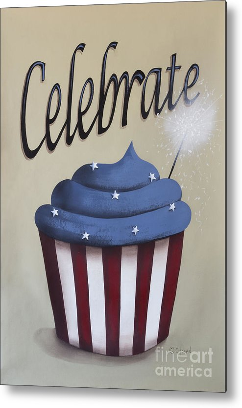 Art Metal Print featuring the painting Celebrate The 4th Of July by Catherine Holman