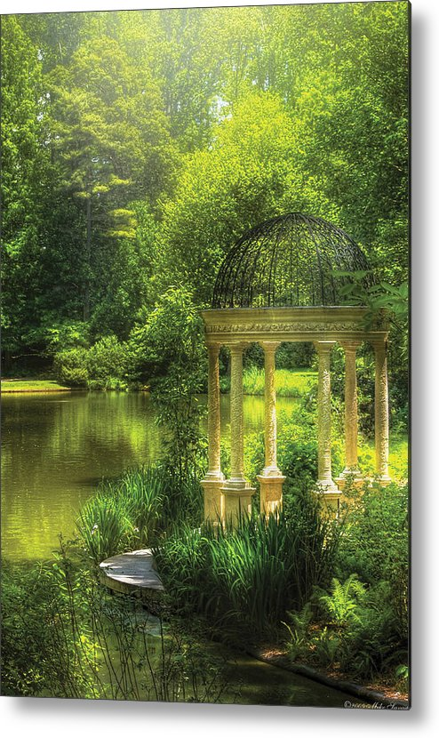 Savad Metal Print featuring the photograph Garden - The Temple Of Love by Mike Savad