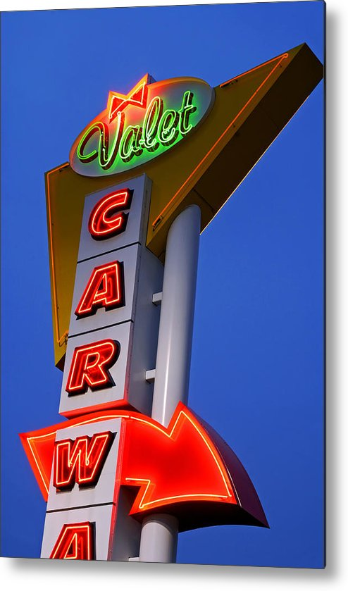 Car Wash Metal Print featuring the photograph Retro Car Wash Sign by Norman Pogson