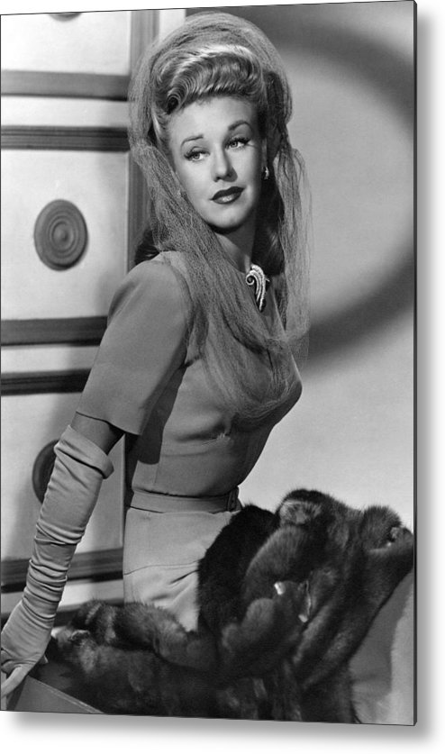 11x14lg Metal Print featuring the photograph Ginger Rogers, Ca. 1943 by Everett