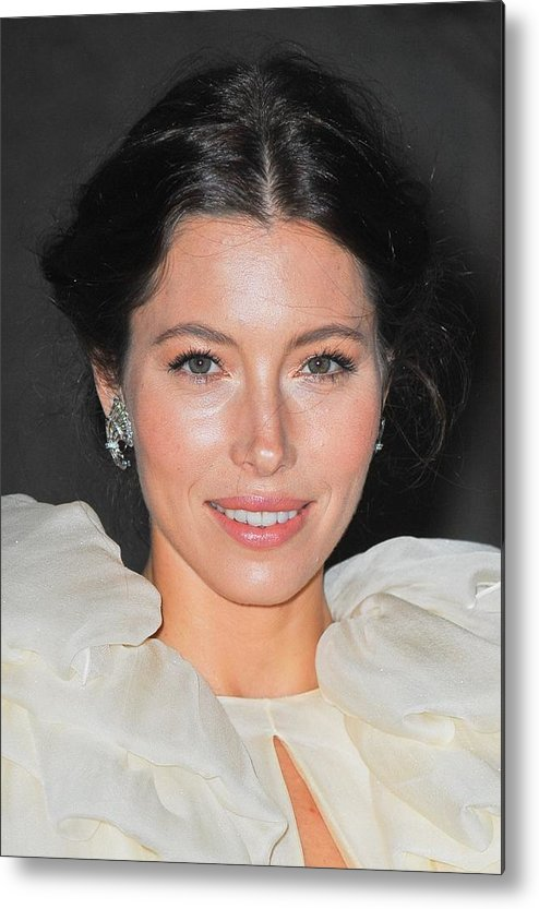 Jessica Biel Metal Print featuring the photograph Jessica Biel Wearing Fred Leighton by Everett