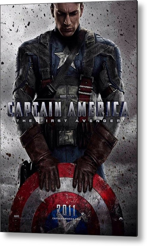 Captain America The First Avenger  Metal Print by Movie Poster Prints