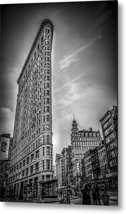 Architecture Metal Print featuring the photograph Flatiron by Shari Mattox
