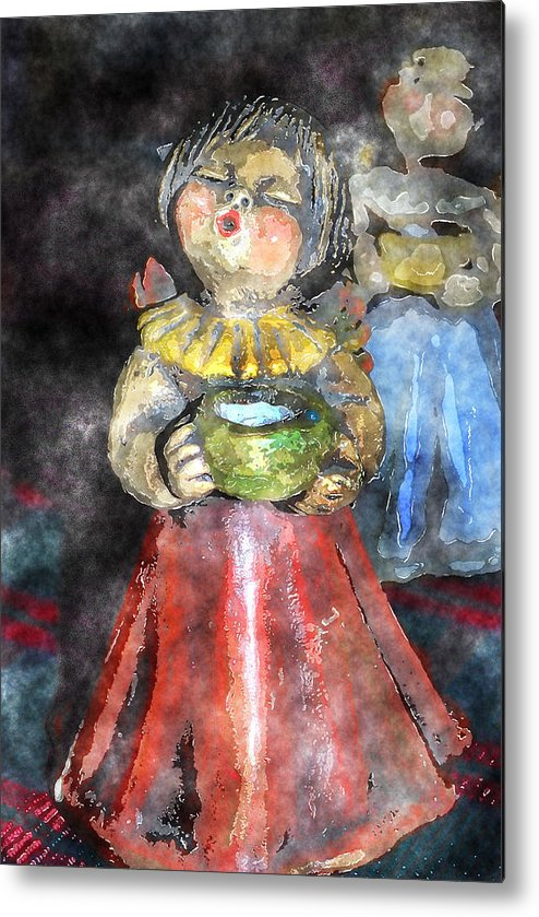 Angel Metal Print featuring the digital art Little Christmas Angel-abstract by Patricia Motley
