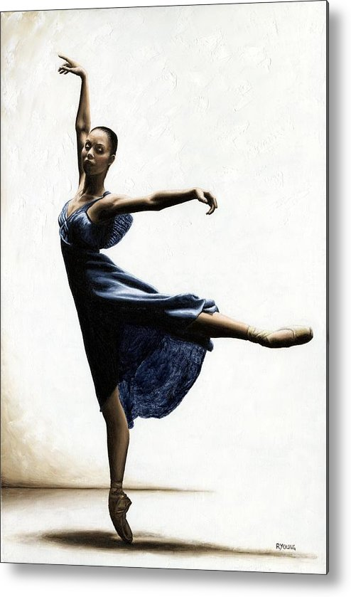 Dancer Metal Print featuring the painting Refined Grace by Richard Young