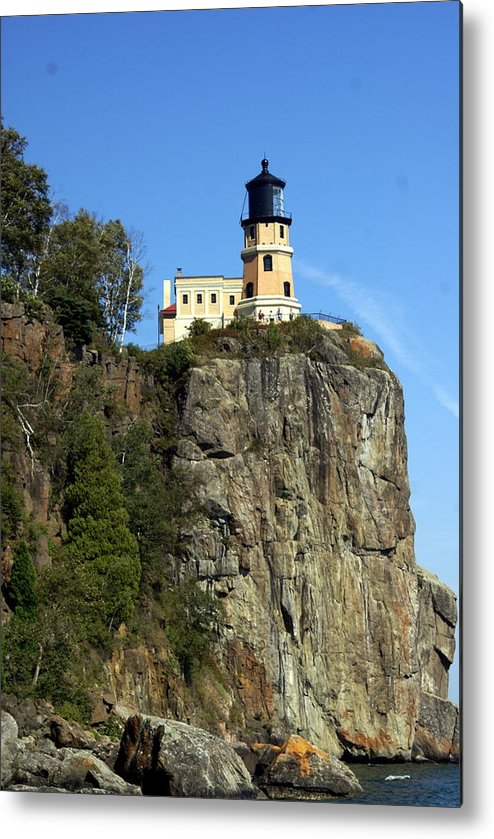 Lighthouse Metal Print featuring the photograph Split Rock 3 by Marty Koch
