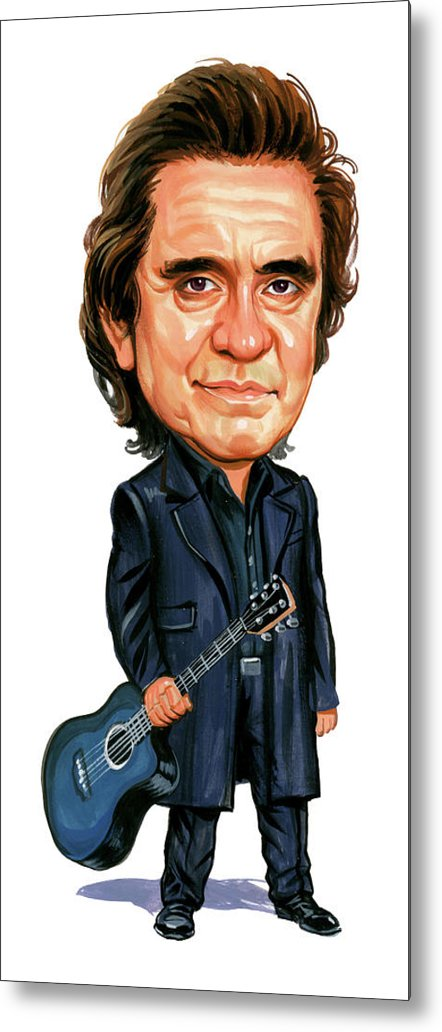 Johnny Cash Metal Print featuring the painting Johnny Cash by Art
