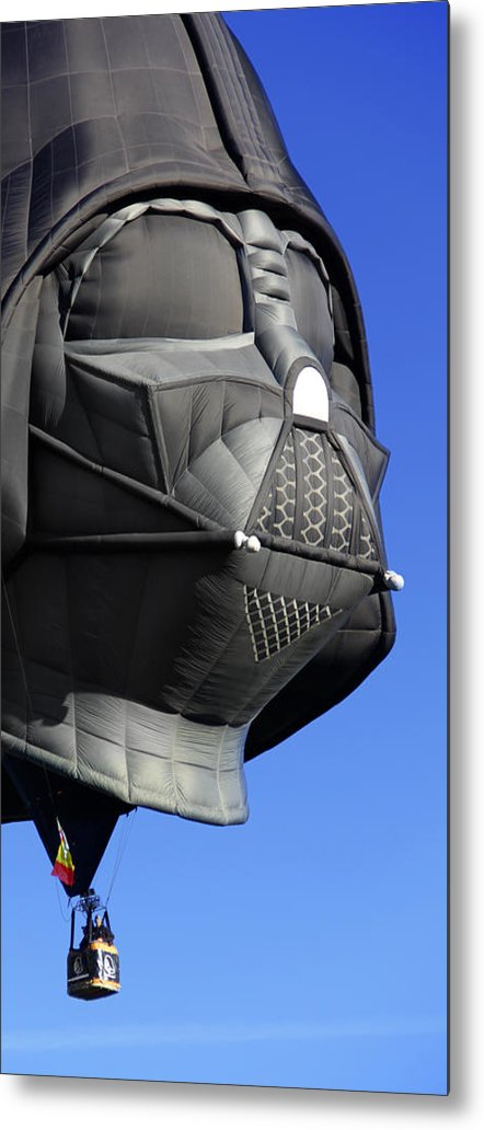 Balloon Fiesta Metal Print featuring the photograph The Dark Side by Mike McGlothlen