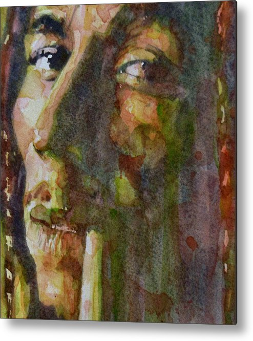 Bob Marley Metal Print featuring the painting Bob Marley by Paul Lovering