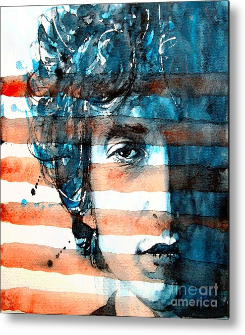 Bob Dylan Metal Print featuring the painting An American Icon by Paul Lovering